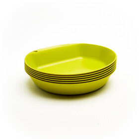 Wildo Camper Plate Deep Set Unicolor 6-Pieces, lime